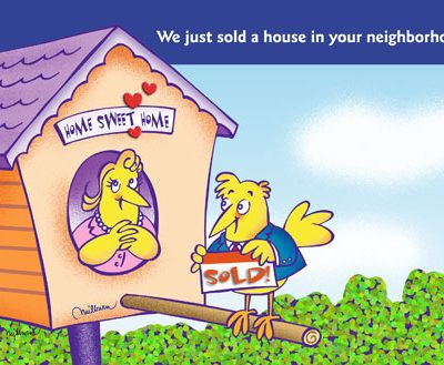 Promotional post card for Realtors